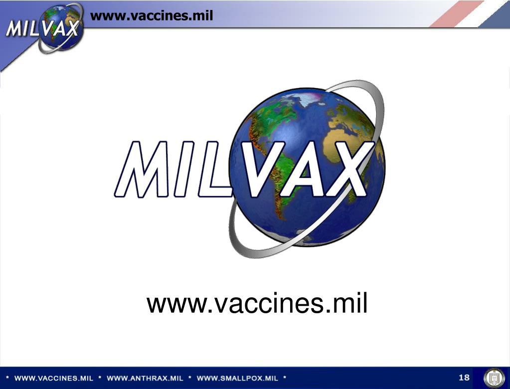 www.vaccines.mil