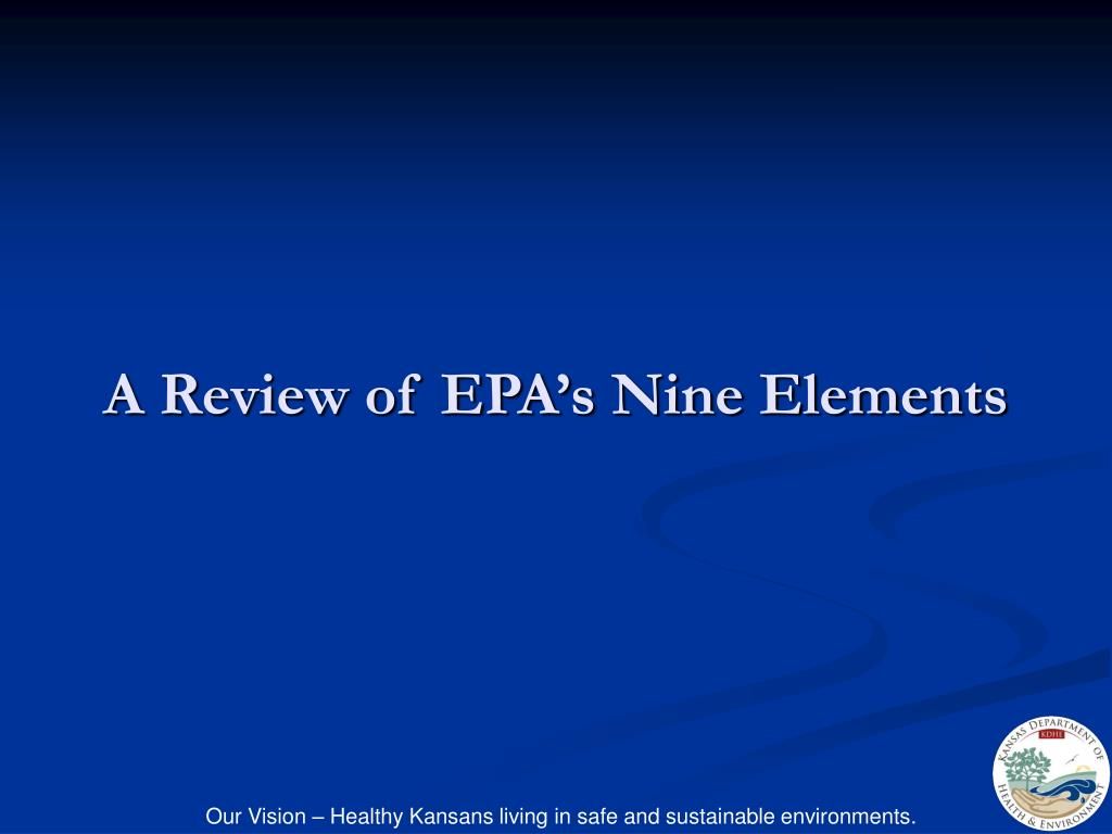 A Review of EPA's Nine Elements