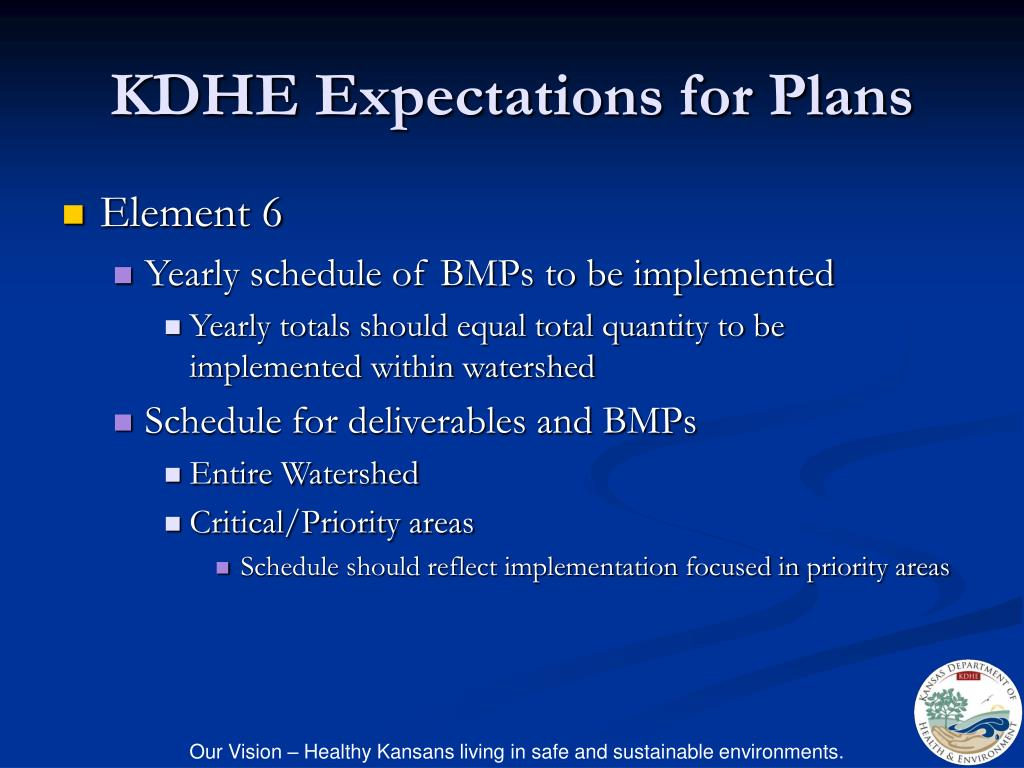 KDHE Expectations for Plans