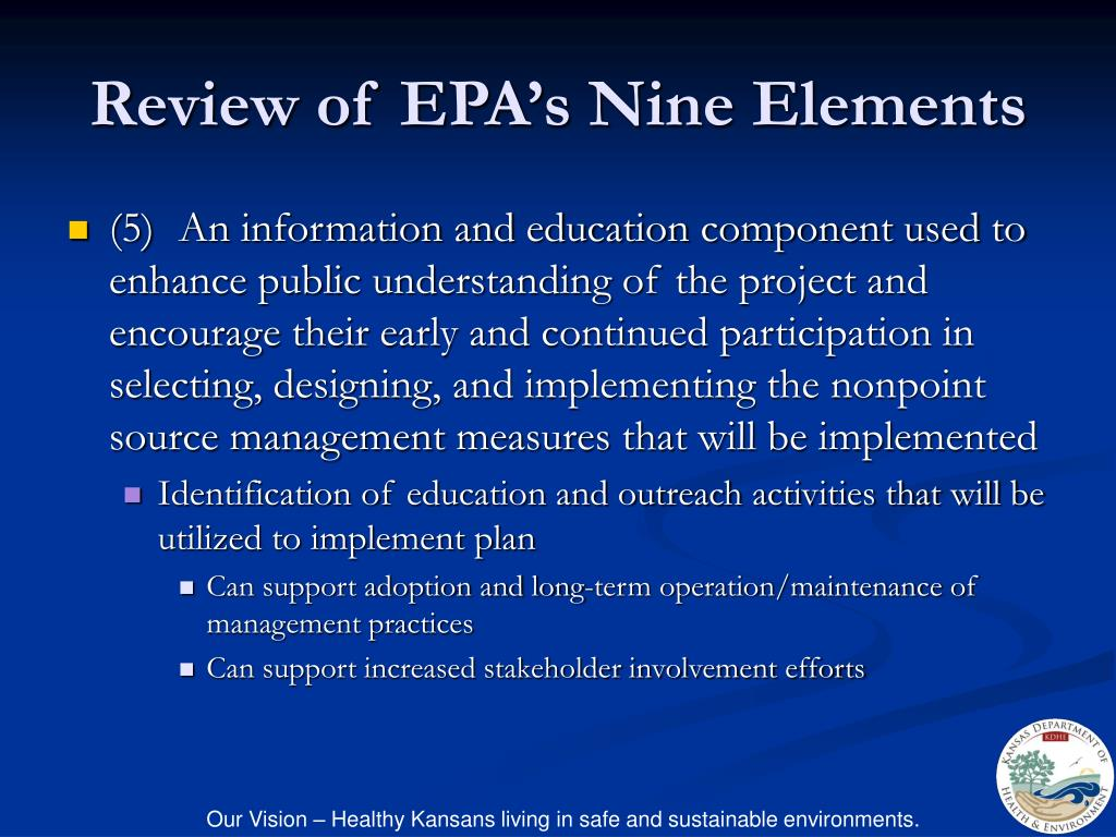 Review of EPA's Nine Elements
