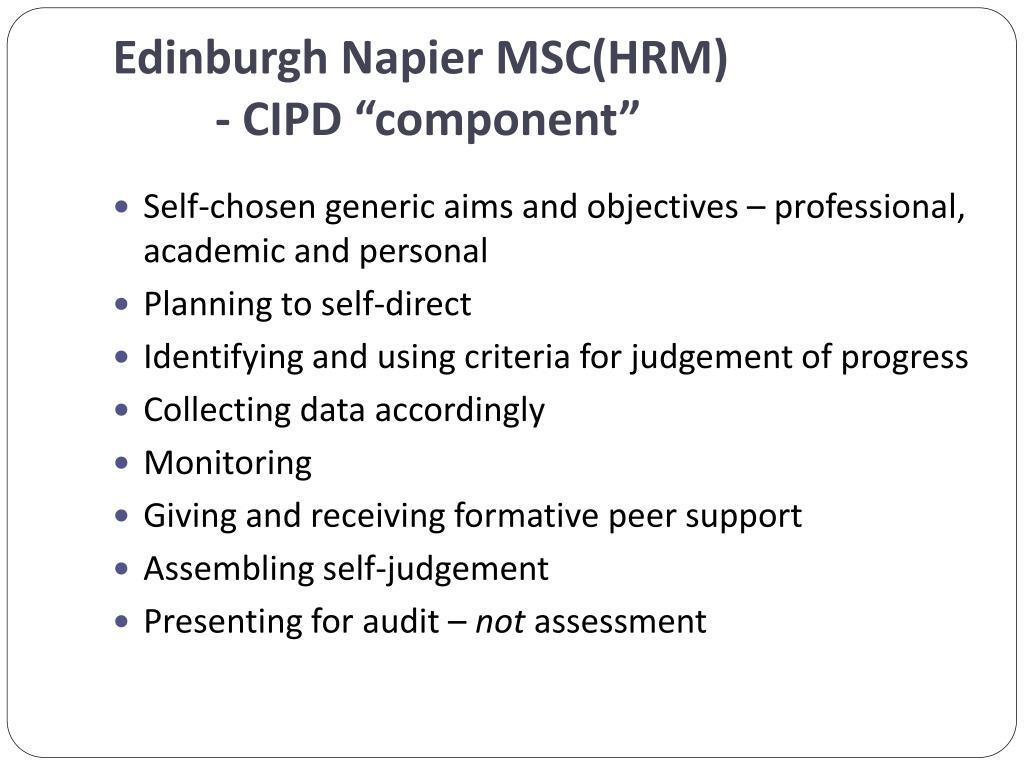 Edinburgh Napier MSC(HRM)