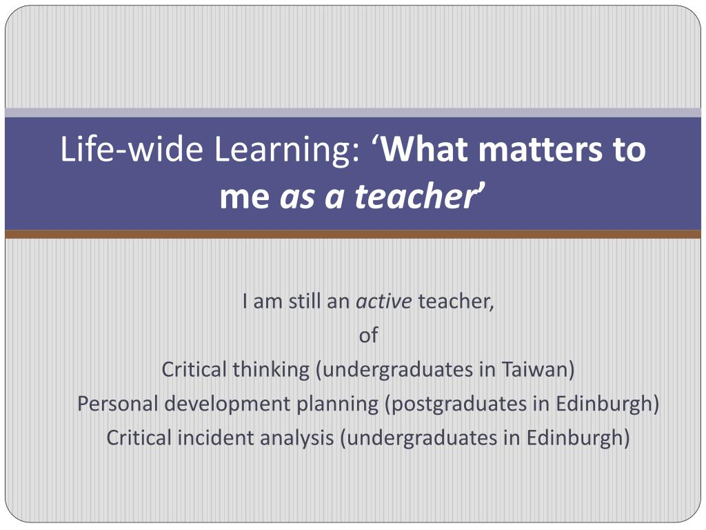 Life-wide Learning: '