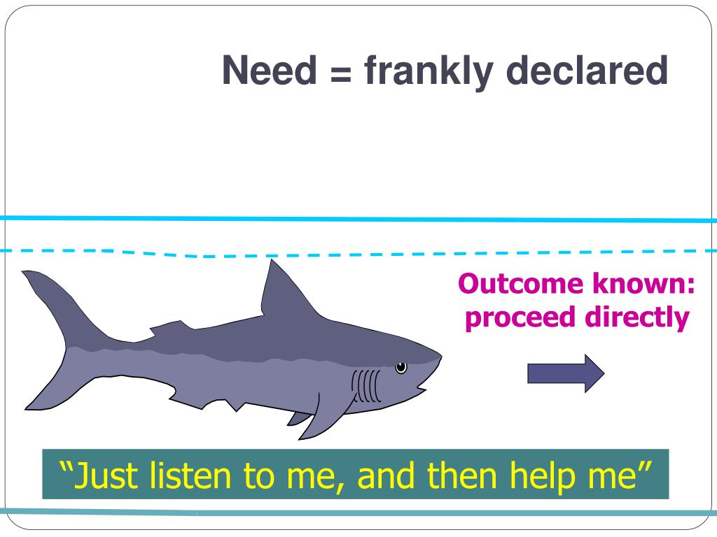 Need = frankly declared