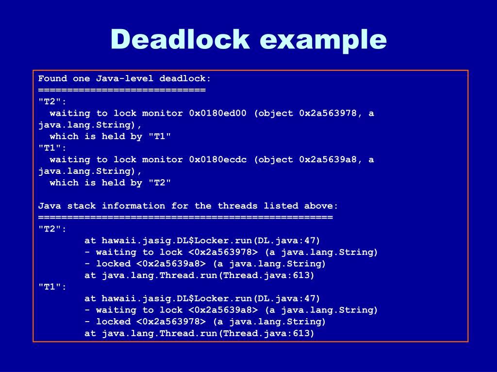 Deadlock example