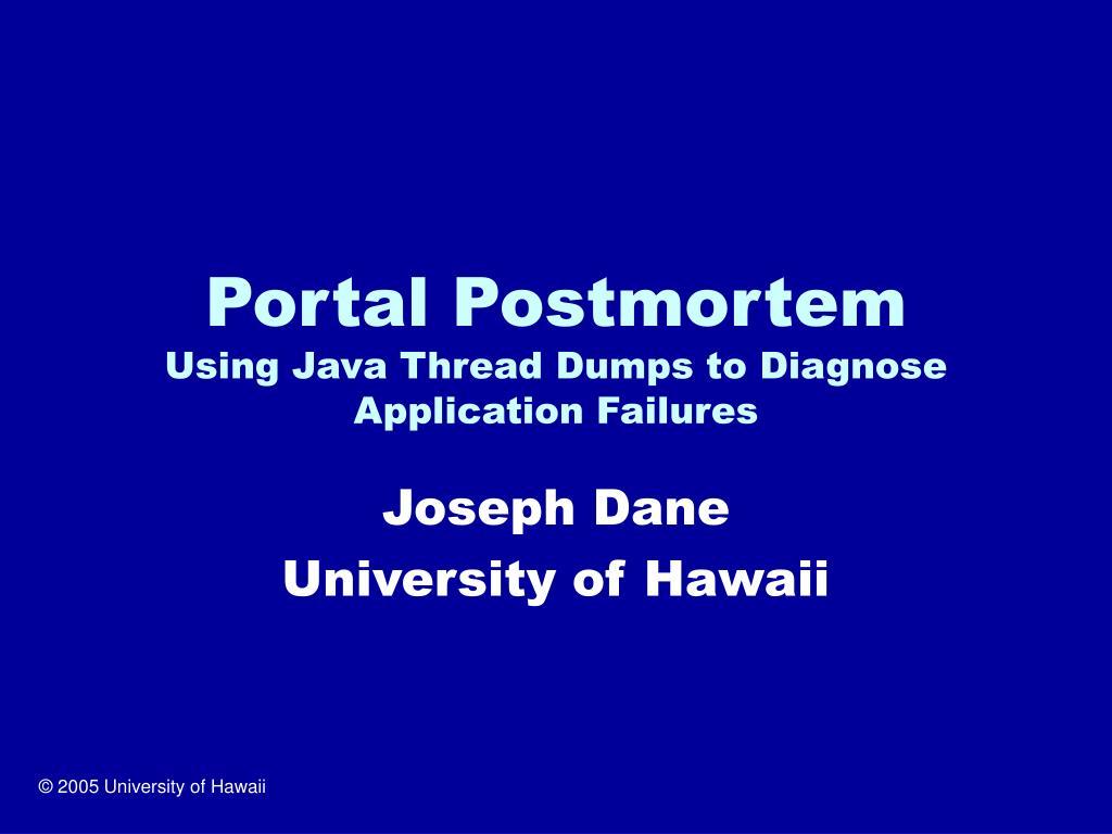Portal Postmortem