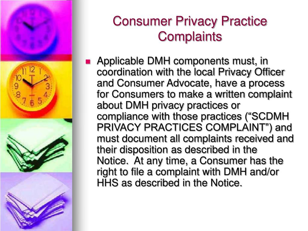 Consumer Privacy Practice Complaints