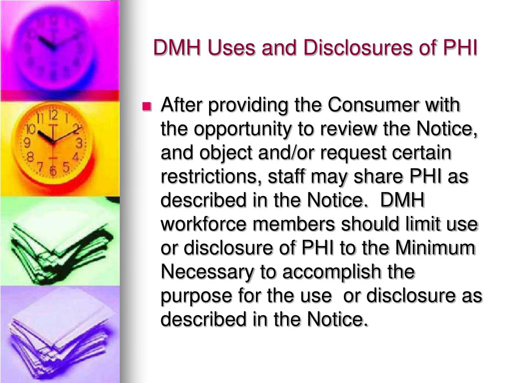 DMH Uses and Disclosures of PHI