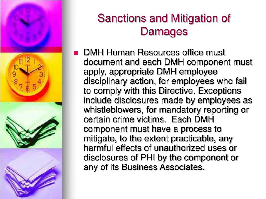Sanctions and Mitigation of Damages