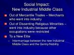 social impact new industrial middle class