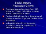 social impact population growth