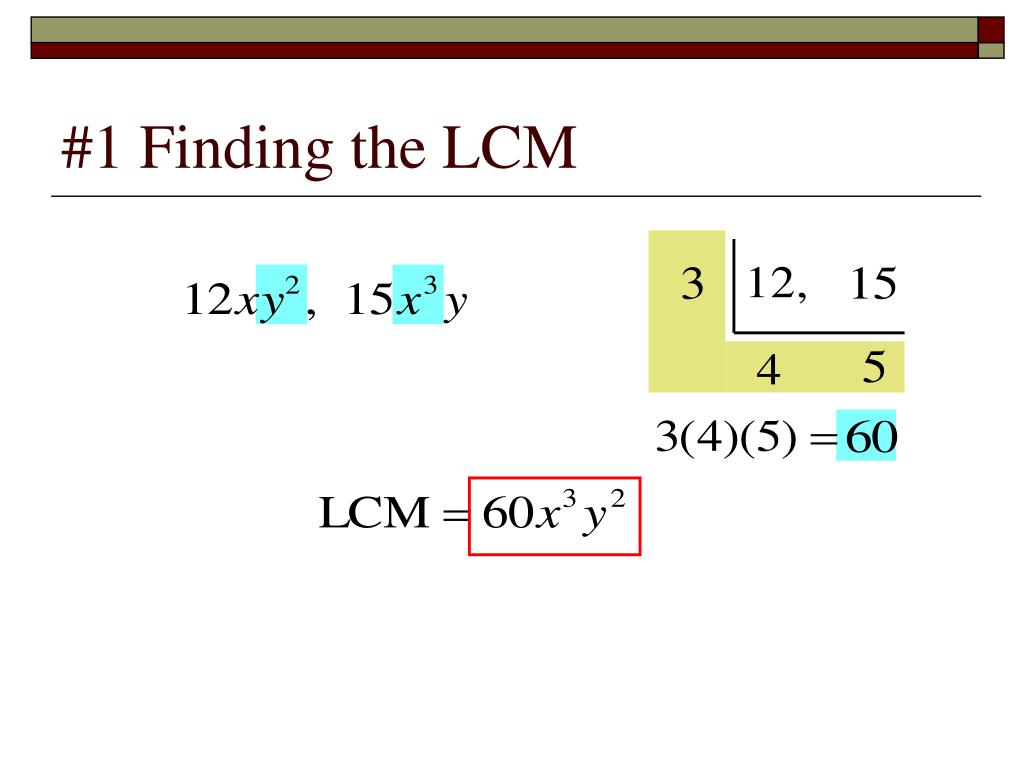 #1 Finding the LCM