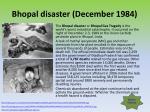 bhopal disaster december 1984
