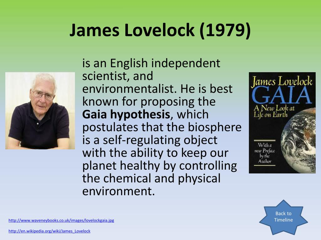 the gaia hypothesis essay An overview of james e lovelock's gaia hypothesis and its plausibility.