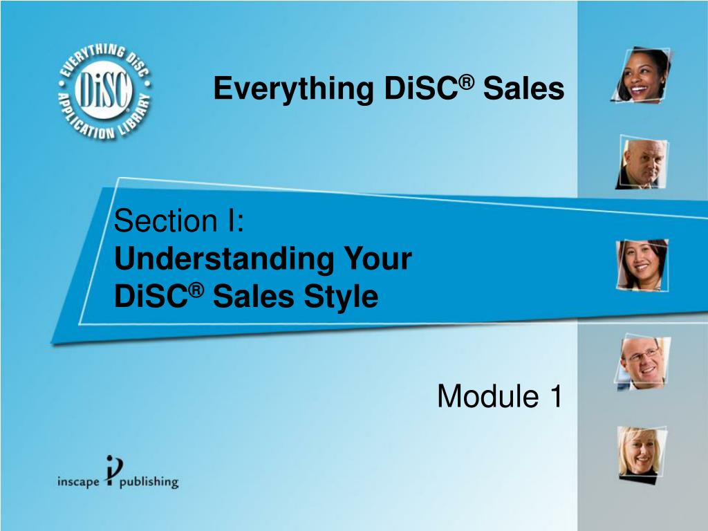 section i understanding your disc sales style l.