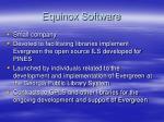 equinox software