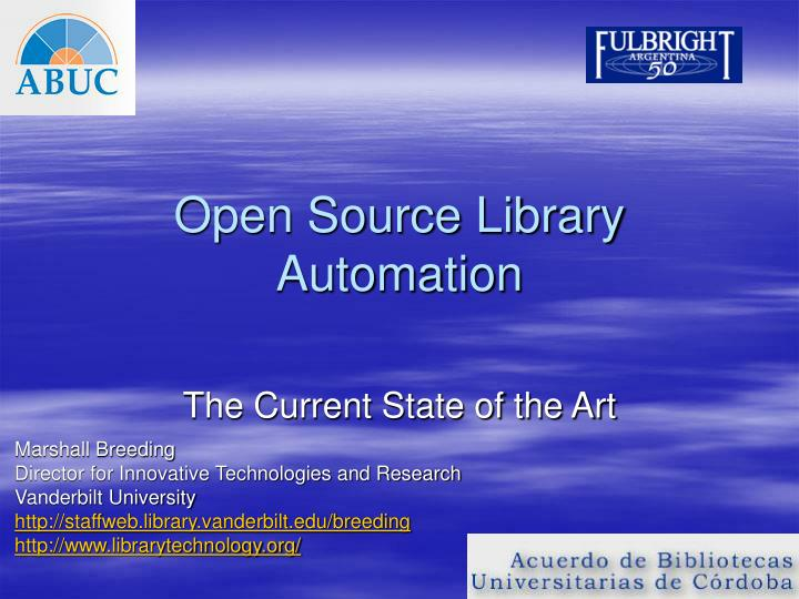 open source library automation n.