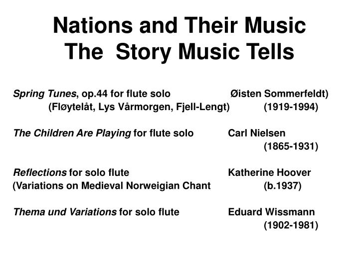 nations and their music the story music tells n.