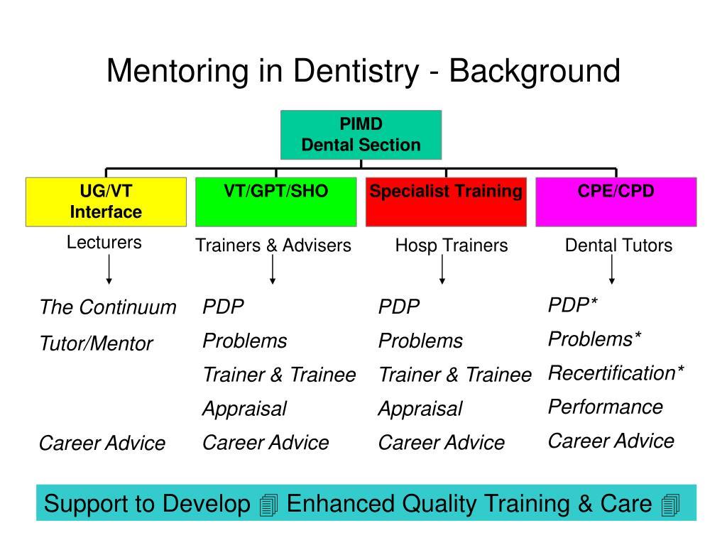 Mentoring in Dentistry - Background