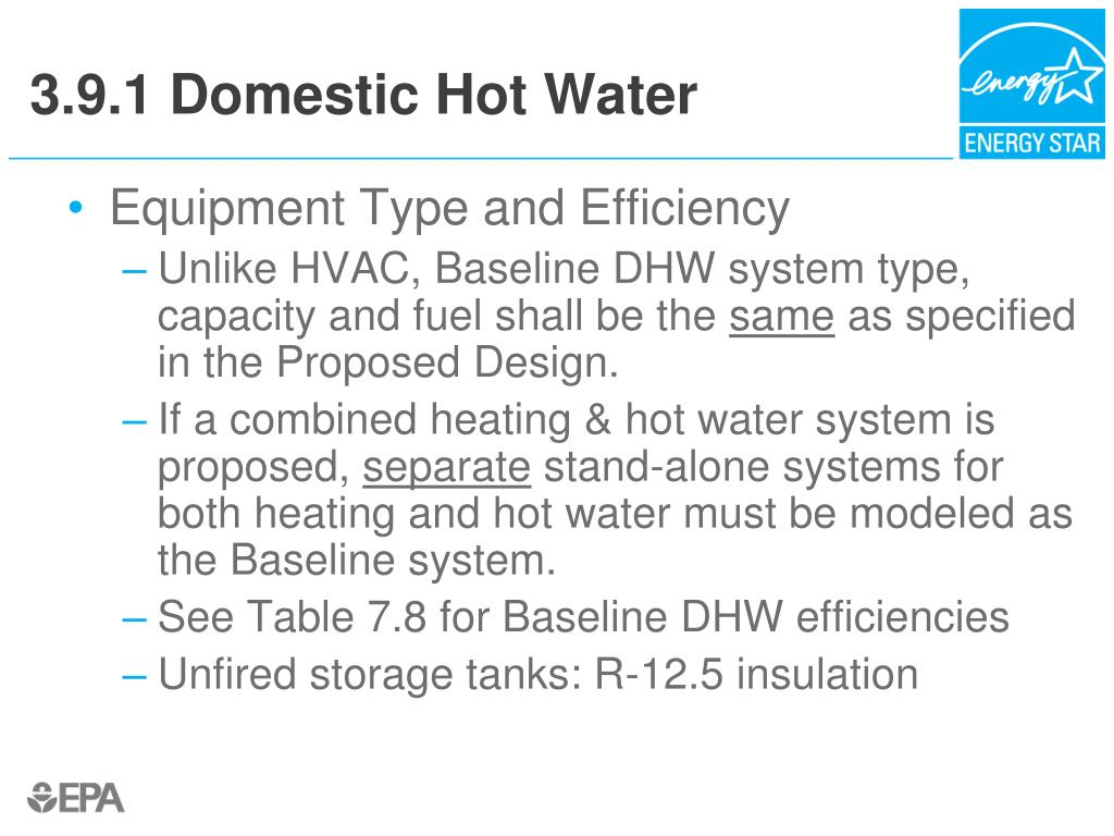3.9.1 Domestic Hot Water