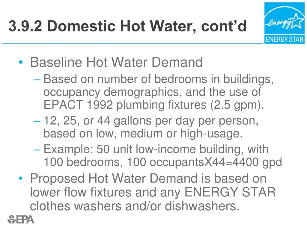 3.9.2 Domestic Hot Water, cont'd