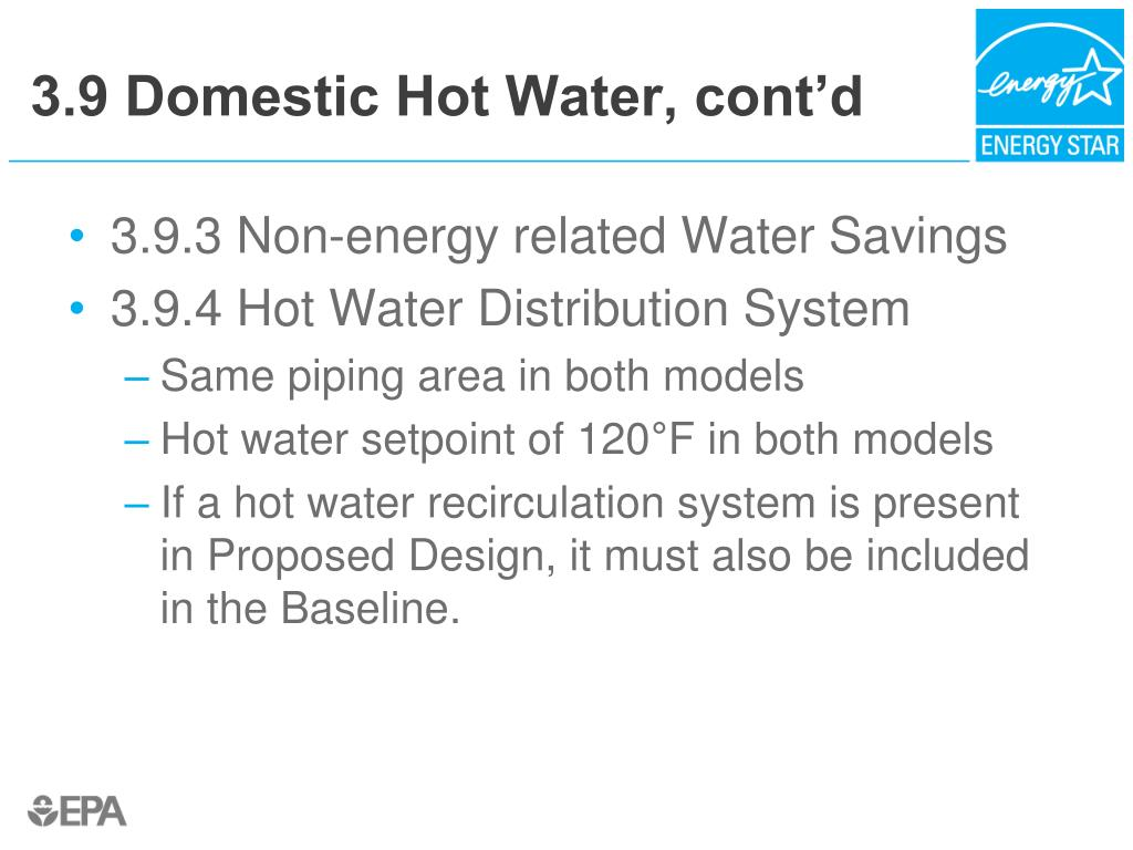 3.9 Domestic Hot Water, cont'd