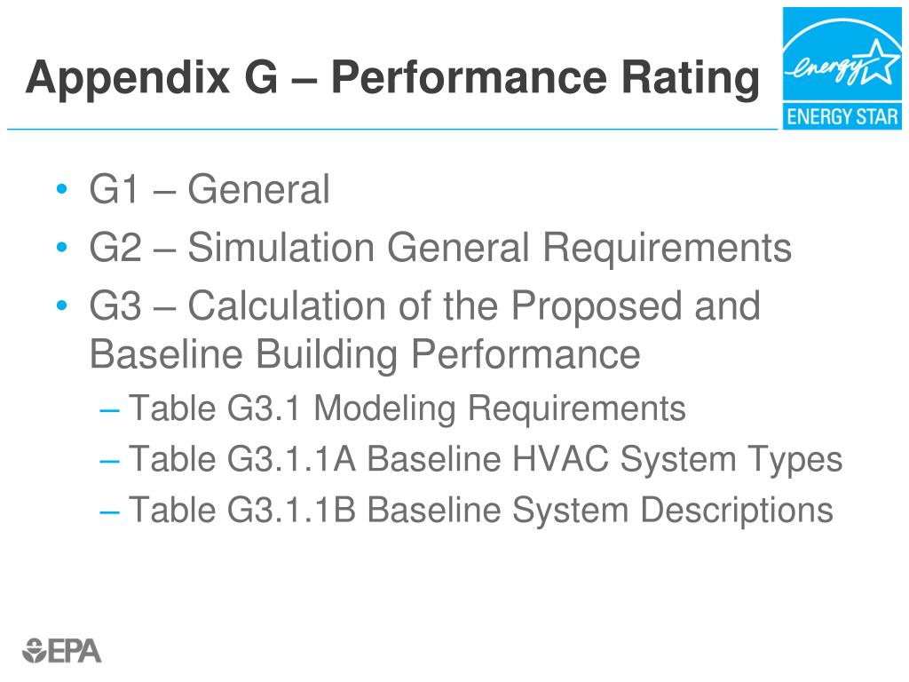 Appendix G – Performance Rating
