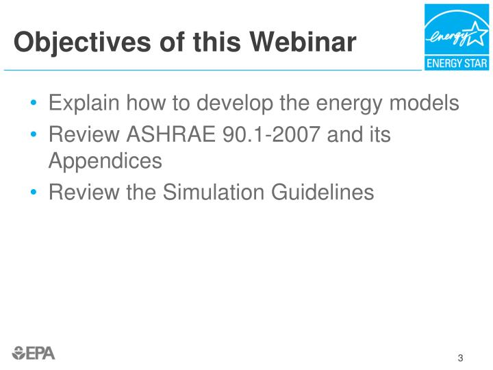 Objectives of this webinar