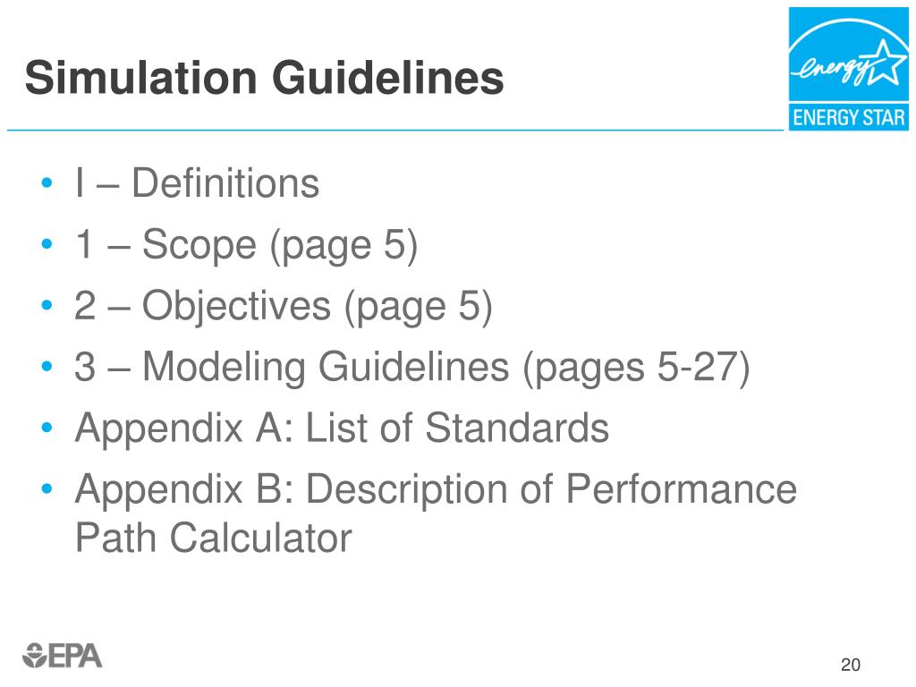 Simulation Guidelines