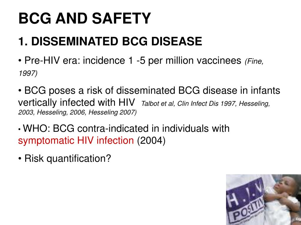 BCG AND SAFETY