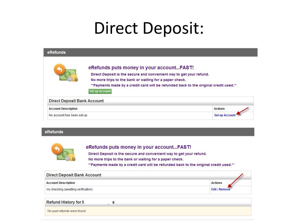 Direct Deposit: