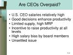 are ceos overpaid
