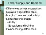 labor supply and demand