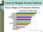 level of wages across nations
