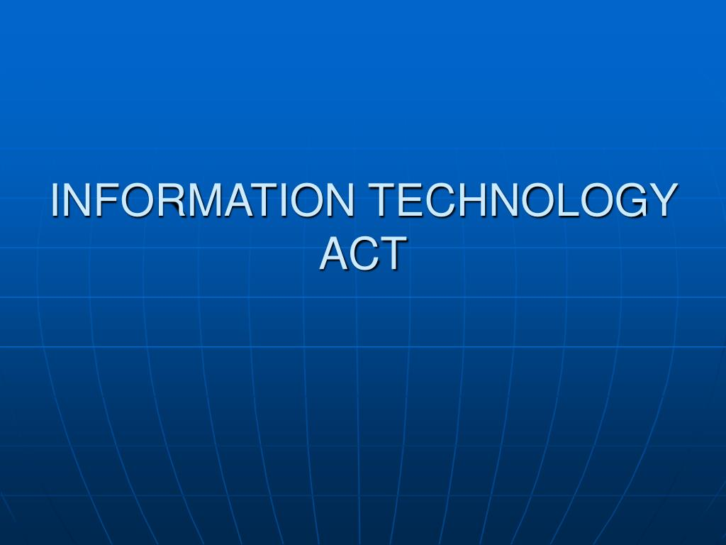 information technology act l.