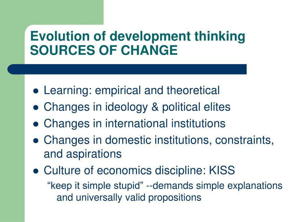 Evolution of development thinking