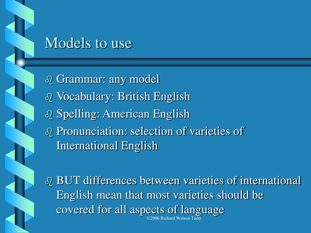 Models to use