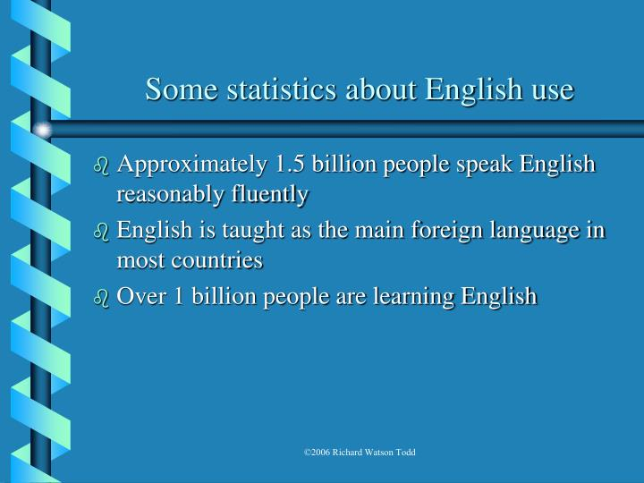 Some statistics about english use