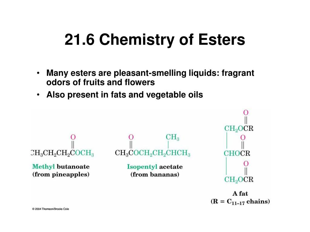21.6 Chemistry of Esters