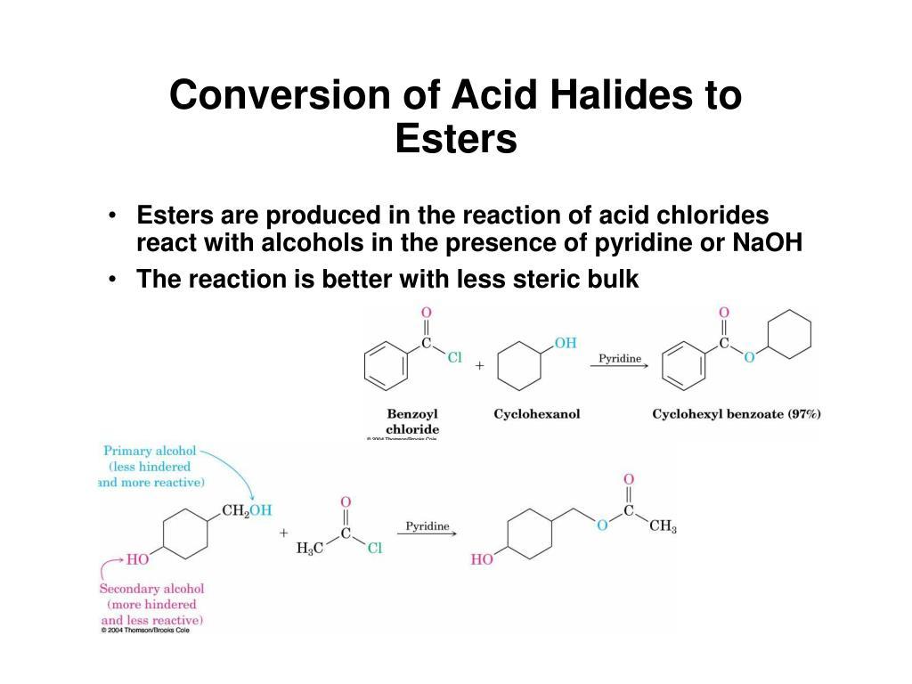 Conversion of Acid Halides to Esters