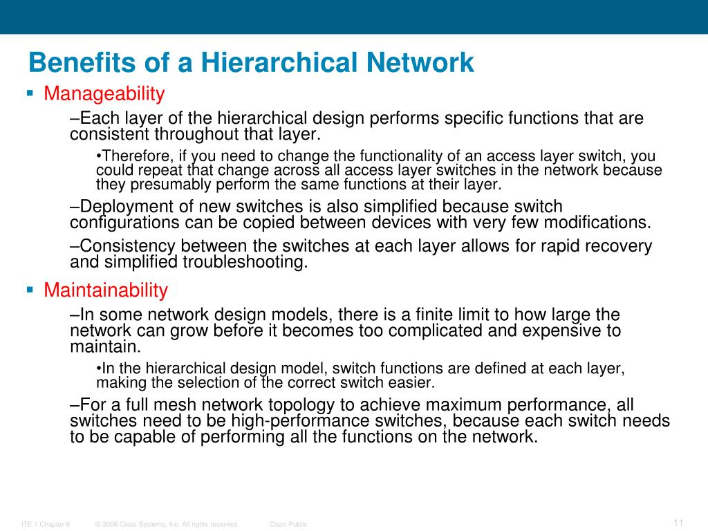 Benefits of a Hierarchical Network