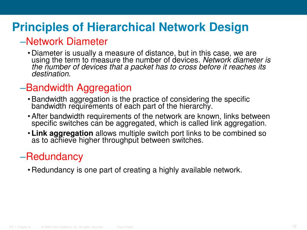 Principles of Hierarchical Network Design