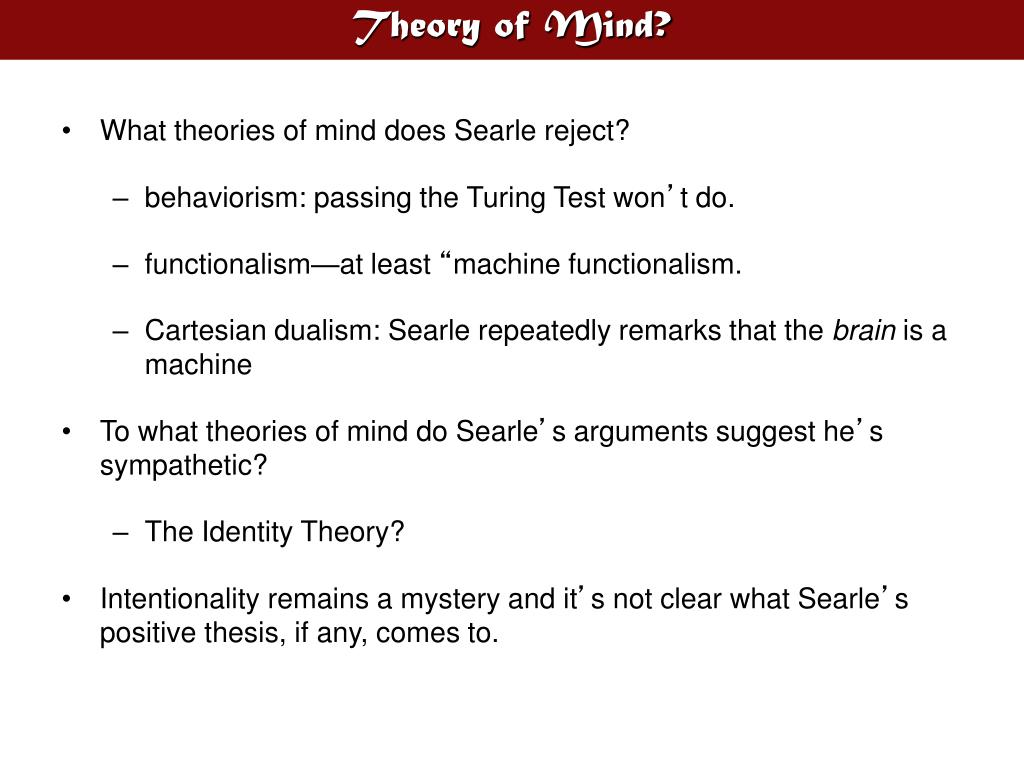 Theory of Mind?