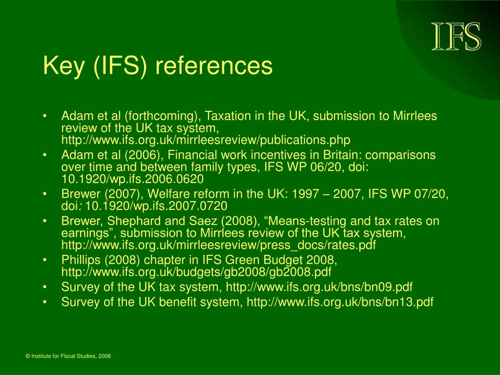 Key (IFS) references