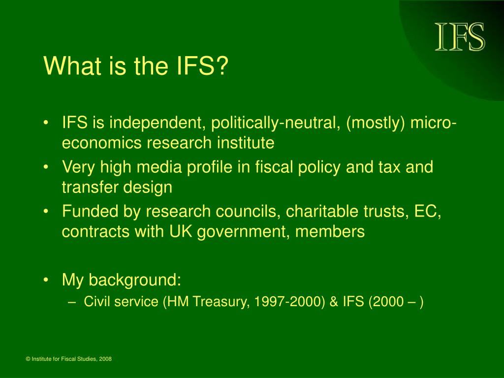 What is the IFS?