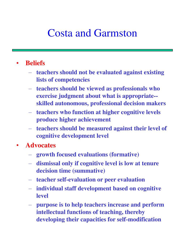 Costa and Garmston