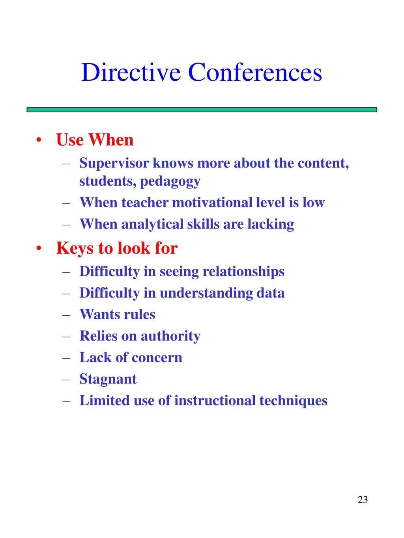 Directive Conferences