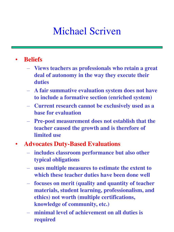 Michael Scriven
