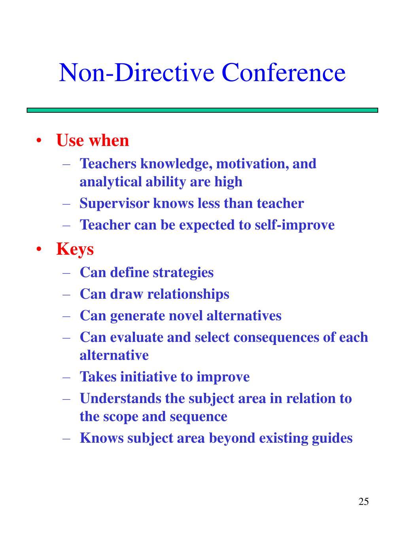 Non-Directive Conference