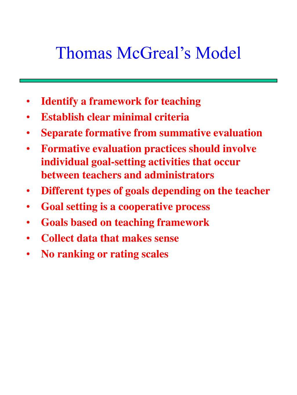 Thomas McGreal's Model