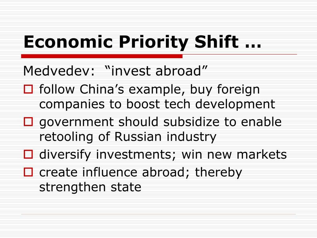 Economic Priority Shift …
